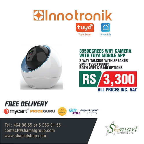 355Degrees WIFI Camera With Tuya Mobile APP