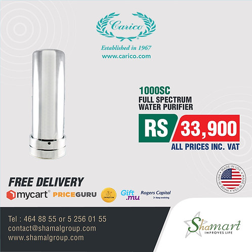 Carico's Nutri-Tech 1000SC Water Purification System