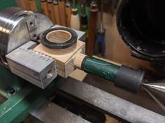 On the wood lathe