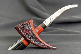 Pierced Paneled Horn #2023
