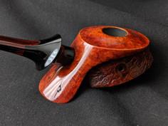 Hooded Discus with cumberland/ebonite split stem