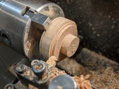 On the metal lathe