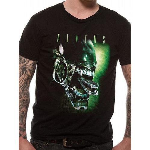 Aliens Head T-Shirt