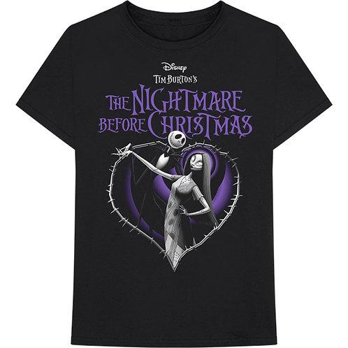 Nightmare Before Christmas Purple Heart T-Shirt