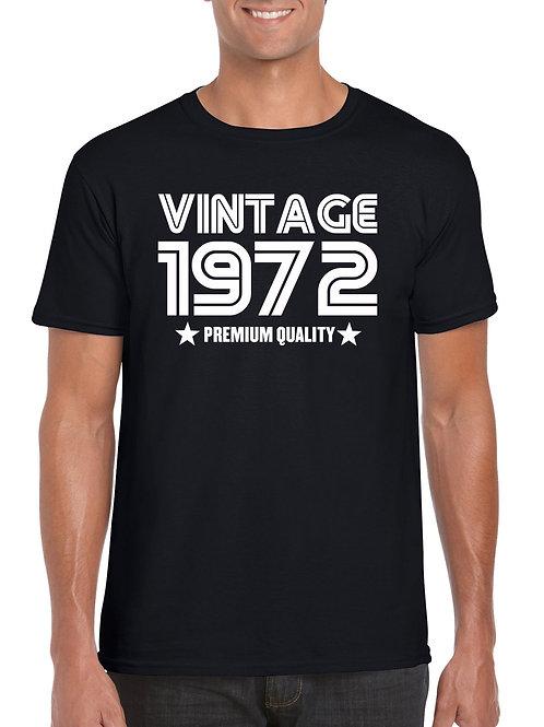 Vintage Birthday Year T-Shirt Black