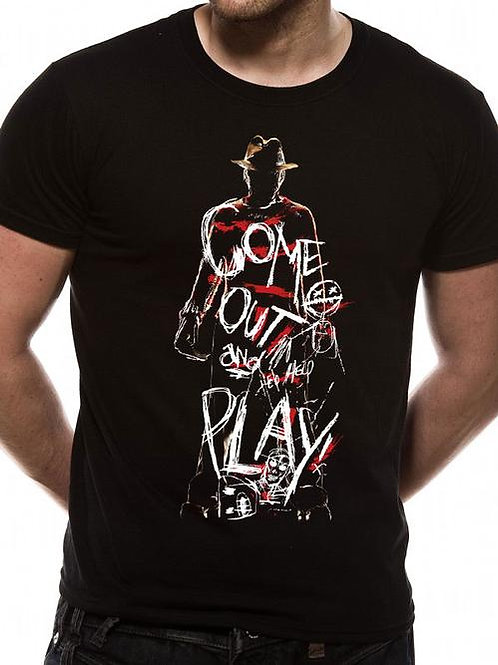 Freddie Come Out To Play Nightmare on Elm St T-Shirt