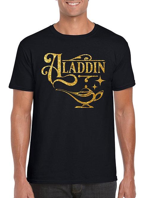 Aladdin Lamp Gold Glitter Print T-Shirt