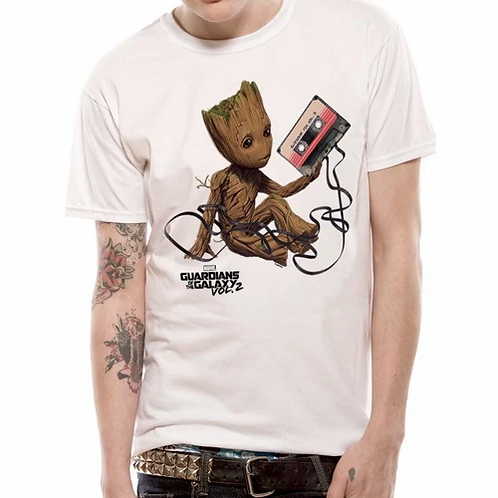 Groot with Tape GOTG T-Shirt