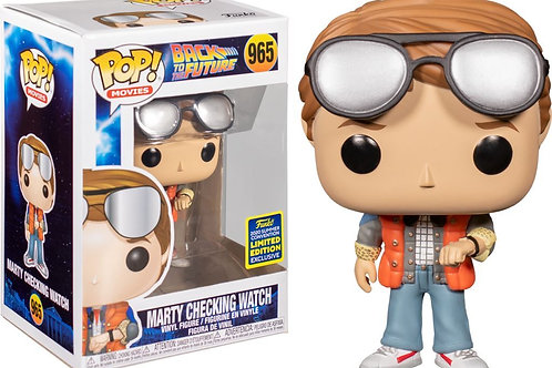 Marty McFly Checking Watch SDCC 2020 Exclusive Funko Pop