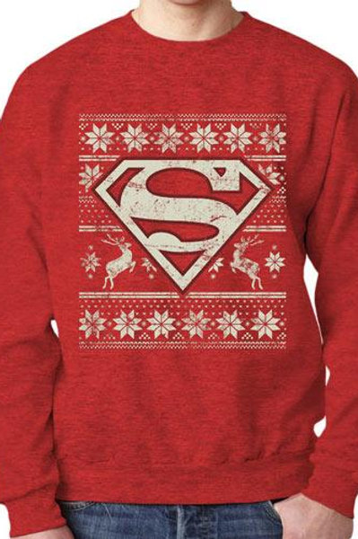Superman Logo Xmas Sweater