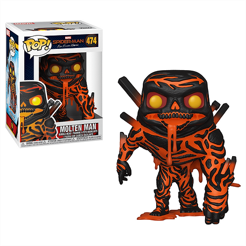 Spiderman Molten Man Funko Pop