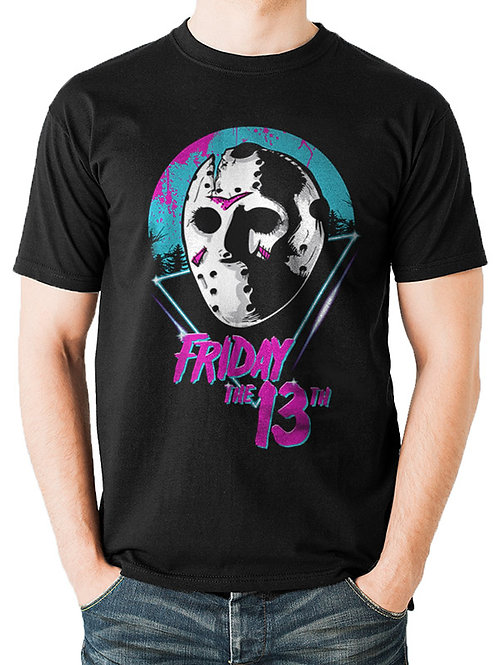 Friday 13th Jason Neon Retro T-Shirt