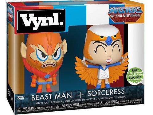 MOTU Beast Man Sorceress Limited Edition Funko Vynl