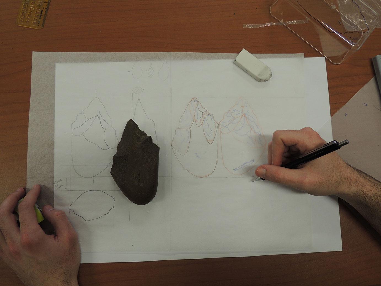 Ilustração arqueológica - estudo