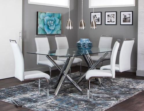 Cramco Mantis 7PC Dining Room Set Only $19.99 per Week   Modern ...