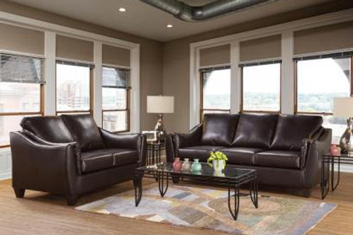 Hughes Bonded Leather Sofa and Loveseat