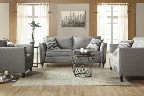 Hughes Sofa and Loveseat Pebble Gray