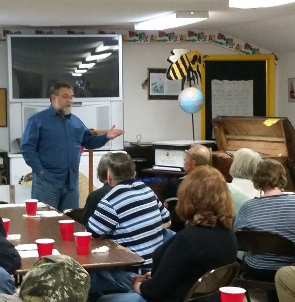 Dennis giving a seminar