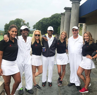 Caddying with the Sleepy Hollow crew!