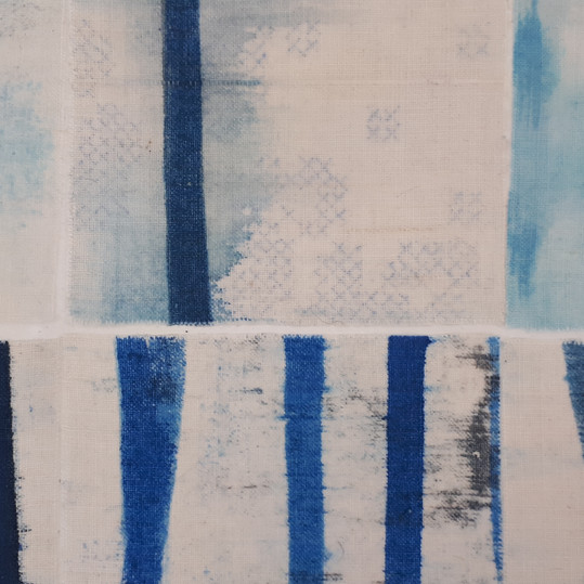 Deconstructed Lines Blue - detail