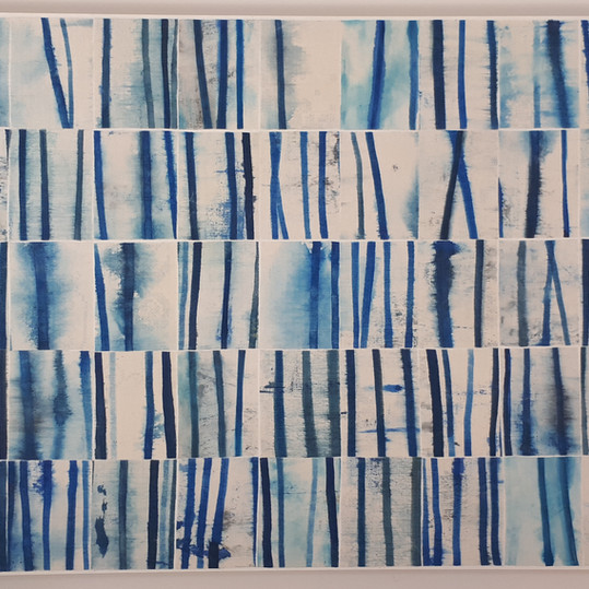 Deconstructed Lines Blue