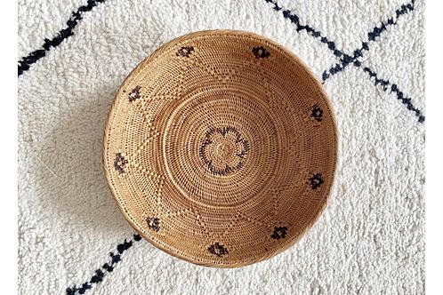 Dalton Black Natural Round Basket