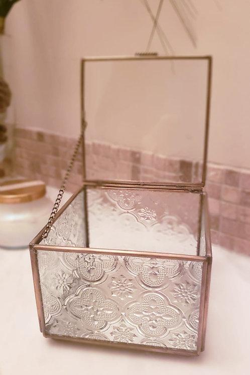 Tempered Square Glass Box