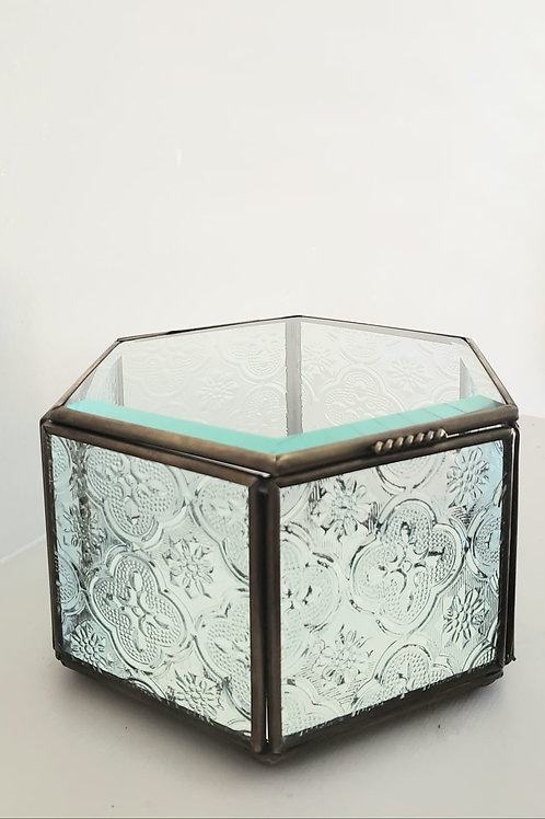 Hexagon Glass Box
