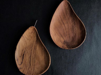 Pear Wooden Plate