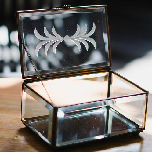 Rectangle Glass Box (Business Card Size)