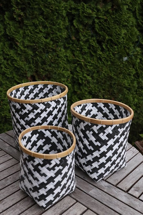Janice Checkerboard Basket