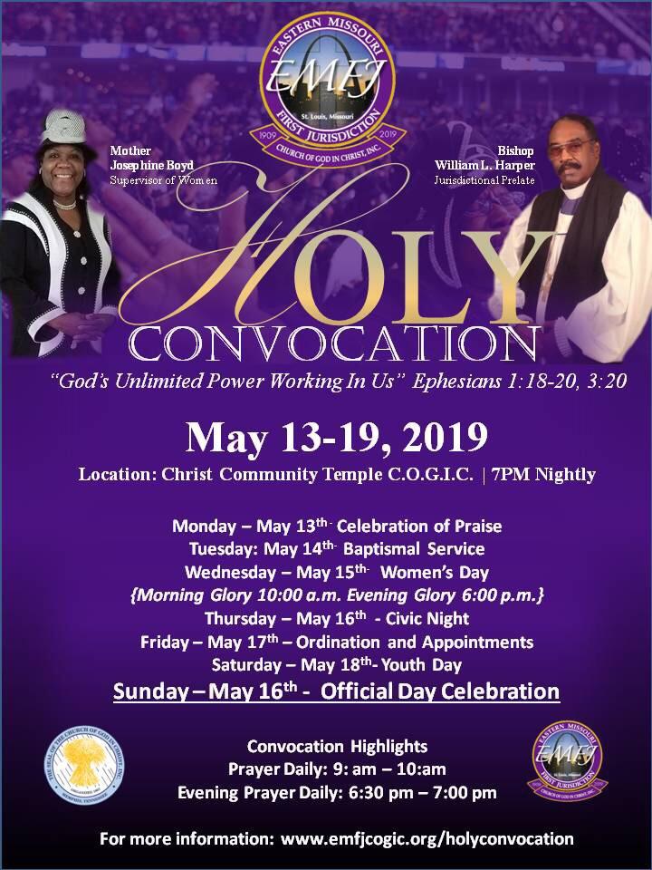 Holy Convocation | Eastern Missouri First Jurisdiction C O G I C
