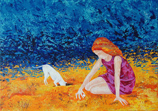 Kleines Mädchen am Strand