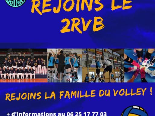 Rejoins le 2RVB, Rejoins la famille du volley !