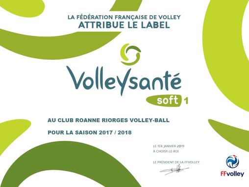 Le 2RVB obtient le Label Sport Santé