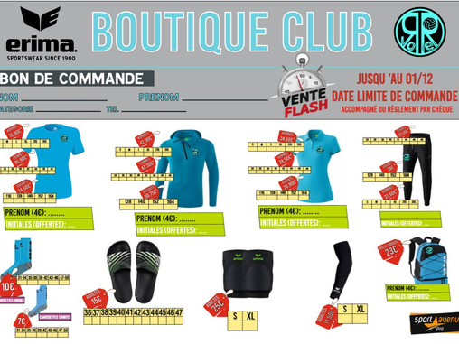 BLACK FRIDAY:Vente flash Boutique jusqu'au 1er décembre !
