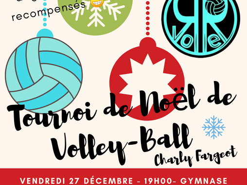 Tournoi de Noël de Volleyball Charly Fargeot