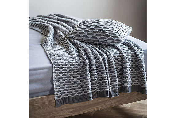 Arcos Knitted Throw Grey