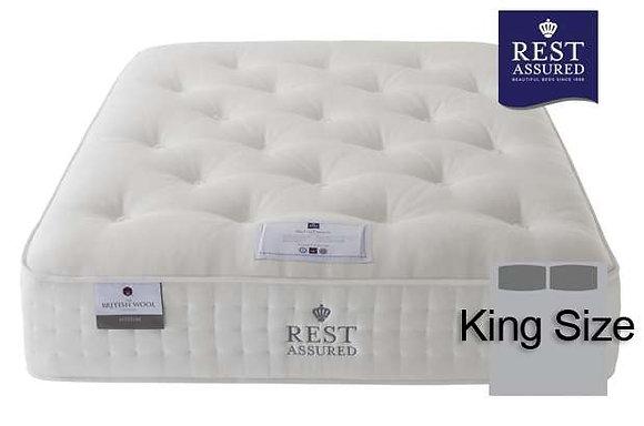 Rest Assured British Wool Medium Comfort King Size Mattress