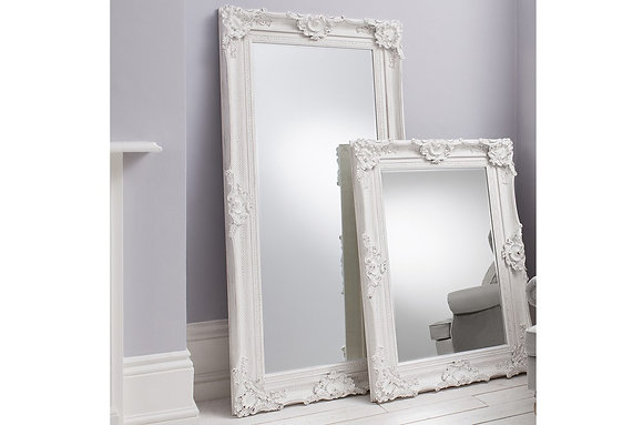 Stretton Leaner White Mirror