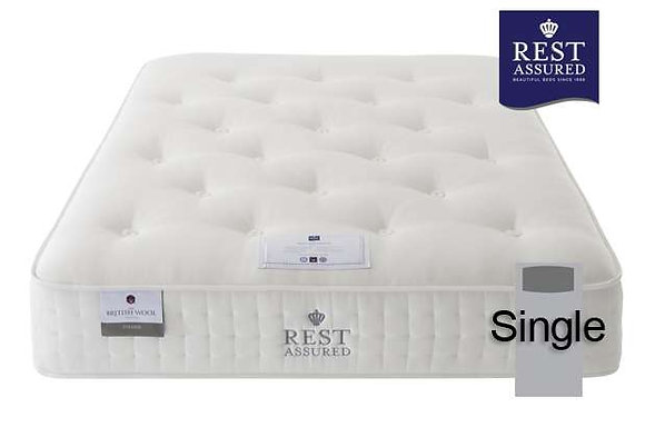 Rest Assured British Wool Firmer Comfort Single Mattress