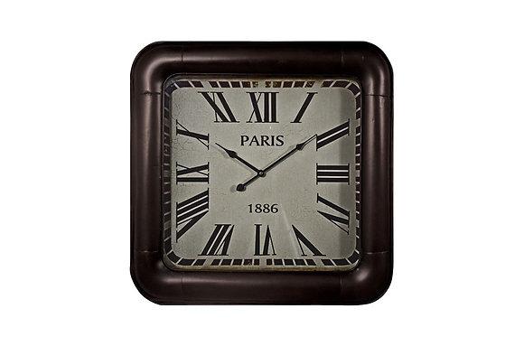 Paris 1886 Square Wall Clock