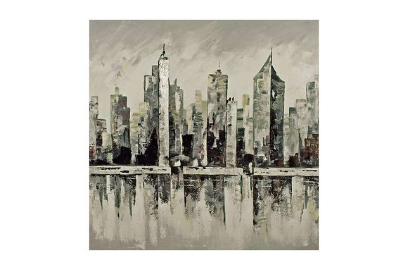 The Big City Oil Painting
