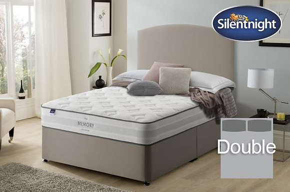 Silentnight Ruscha Miracoil Double Divan Bed with Memory Foam