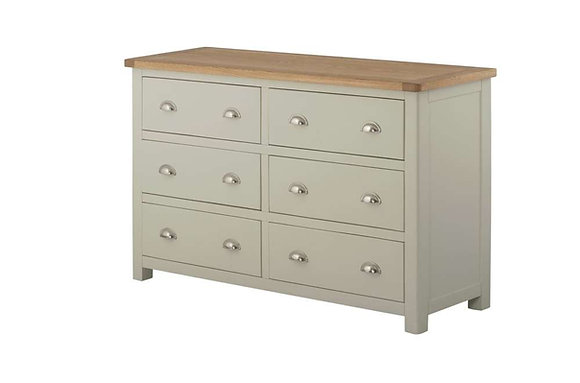 Portland 6 Drawer Wide Chest