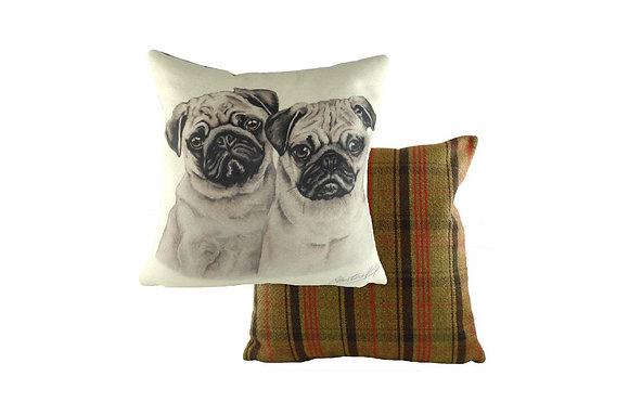 Waggydogz Pug Pups Cushion
