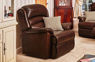 Sherborne Olivia Leather Fixed Armchair