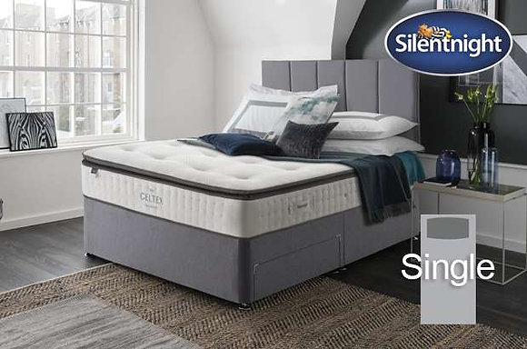 Silentnight Wordsworth Mirapocket Single Divan Bed with Geltex