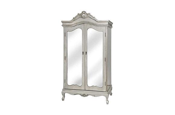 Argente Mirrored 2 Door Double Wardrobe
