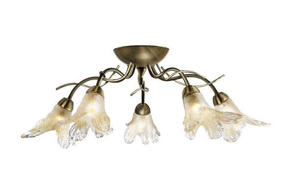 Searchlight Lighting Lily Antique Brass Light